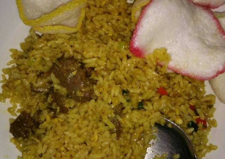 Nasi goreng kari Kambing simple