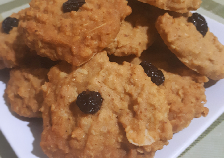 Oat cookies dengan kismis dan almond