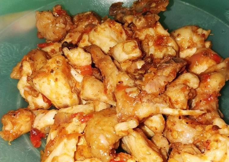 Resep Dada Ayam Fillet Pedas (Diet Recommend)