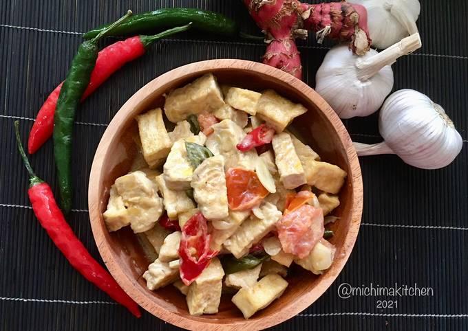 sambal goreng tahu tempe santan - resepenakbgt.com