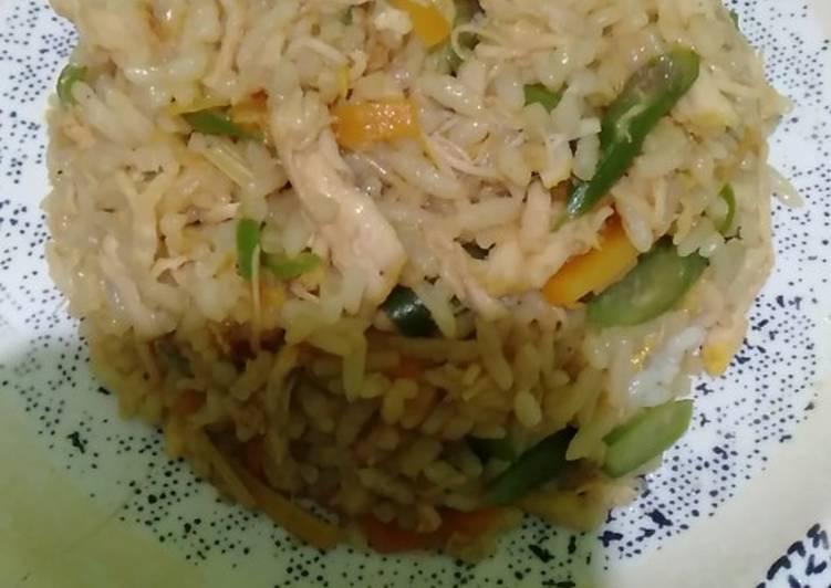 Gerd nasi goreng tanpa minyak/butter/margarin