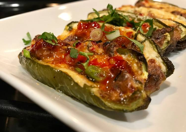 Steps to Make Speedy Easy Roasted Jalapeño Poppers with Thai Sweet Chili Sauce