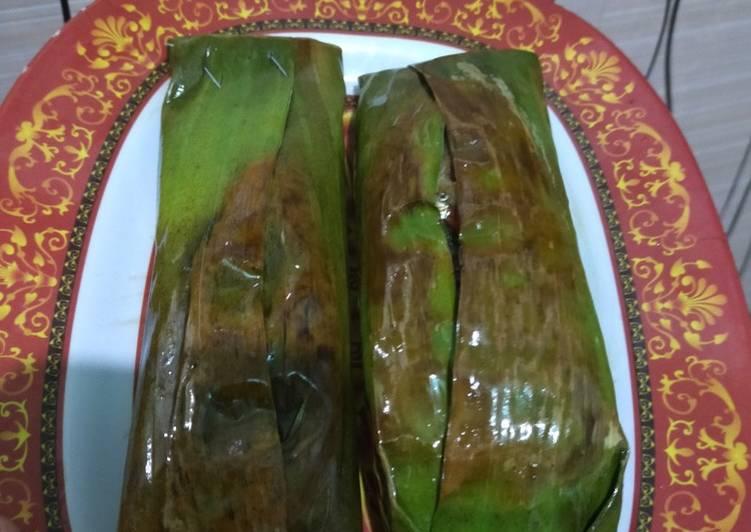 Nasi Bakar Ikan Asap + Jamur