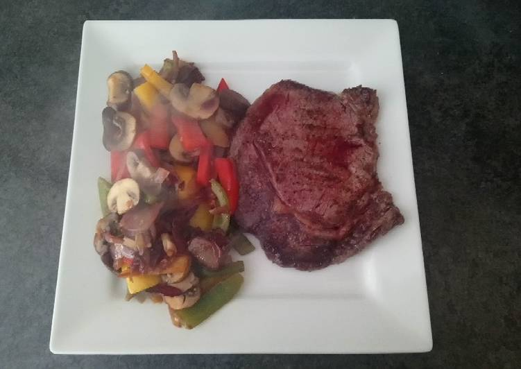 Simple Way to Make Quick Steak and Veg