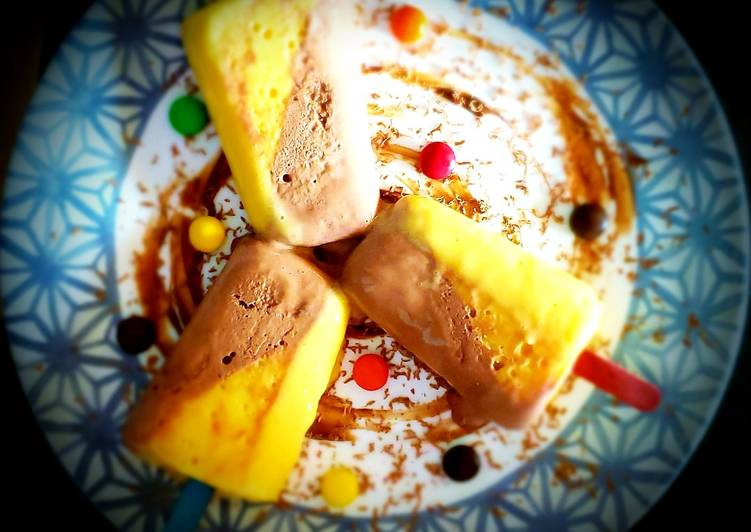 Mango pineapple double layered ice cream🍦🍦