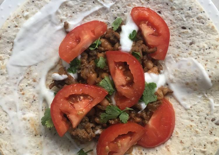 Simple Way to Prepare Homemade Beef Mince Wrap