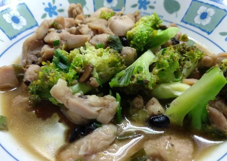 Cara Gampang Membuat Filet ayam dan brokoli cah tausi, Lezat