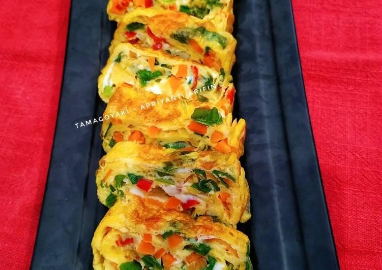 Resep Tamagoyaki (telur dadar gulung khas Jepang) Terbaik