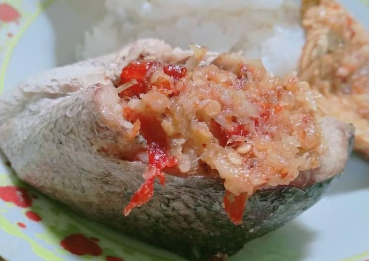 54. Steam Salmon Sambel Bawang 😂