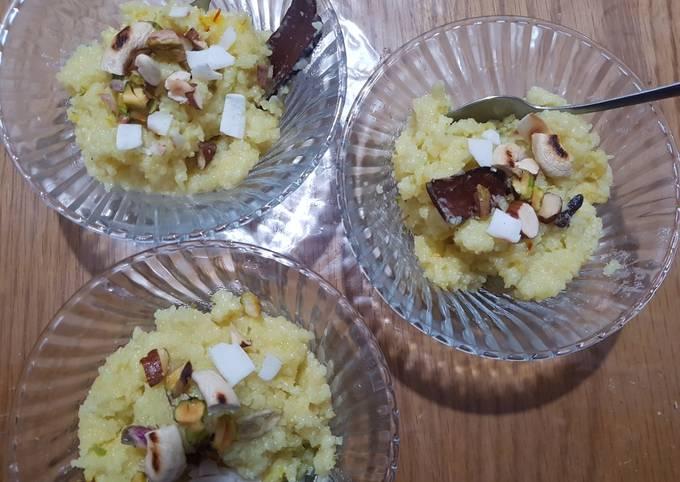 Sweet rice with semolina
