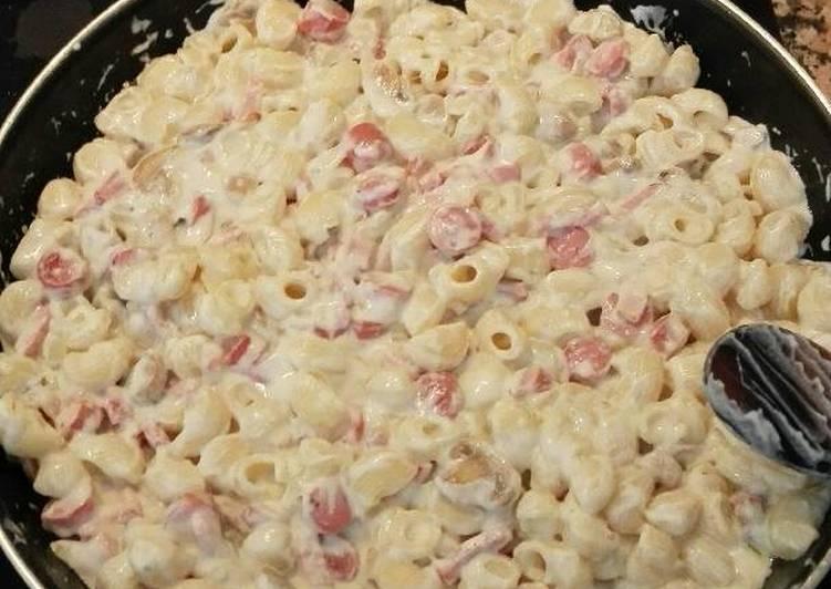 macarrones con nata al horno con queso