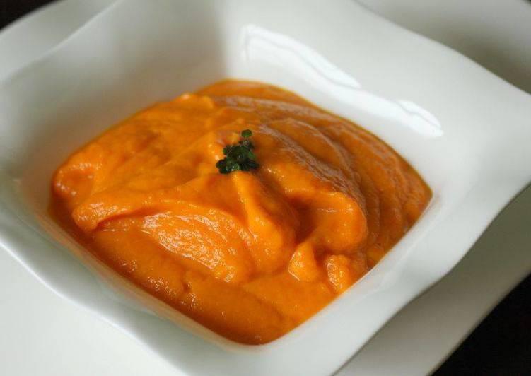Purée de carotte au curcuma