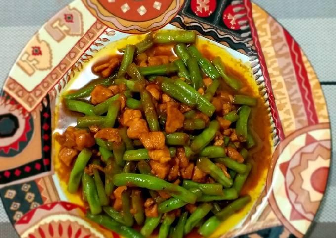 Buncis Ayam Cincang / Cah Buncis / Tumis Ayam Buncis Gurih