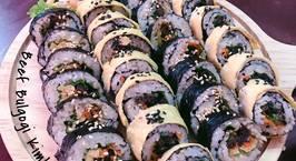Hình ảnh món Kimbap thịt bò Bulgogi Hàn Quốc