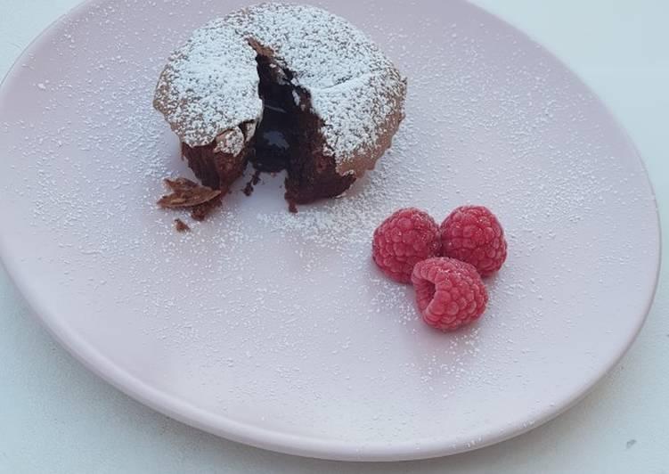 Fondant au chocolat coeur coulant