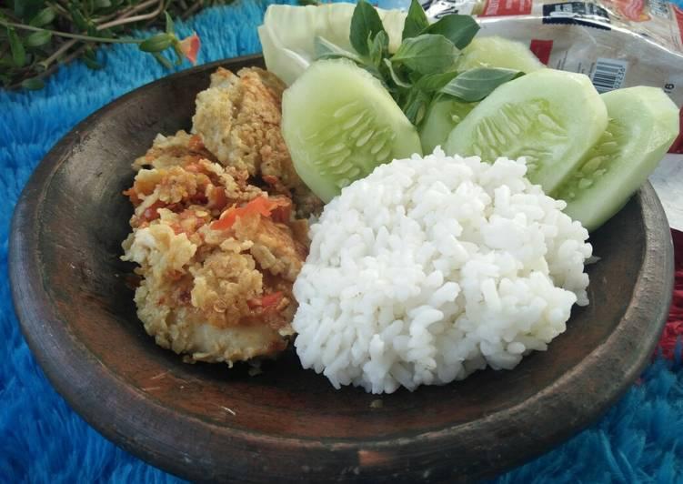 Resep [menu diet] ayam geprek oatmeal, Enak
