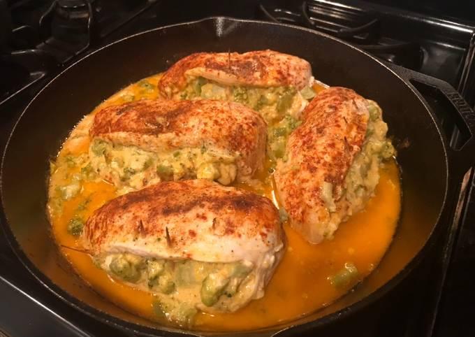 Broccoli Cheddar Stuffed Chicken Breast