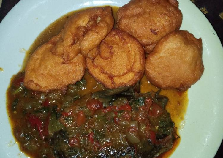 Steps to Prepare Homemade Akara and dried fish pepper soup