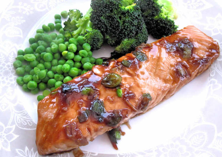 Recipe: Appetizing Salmon in oyster sauce