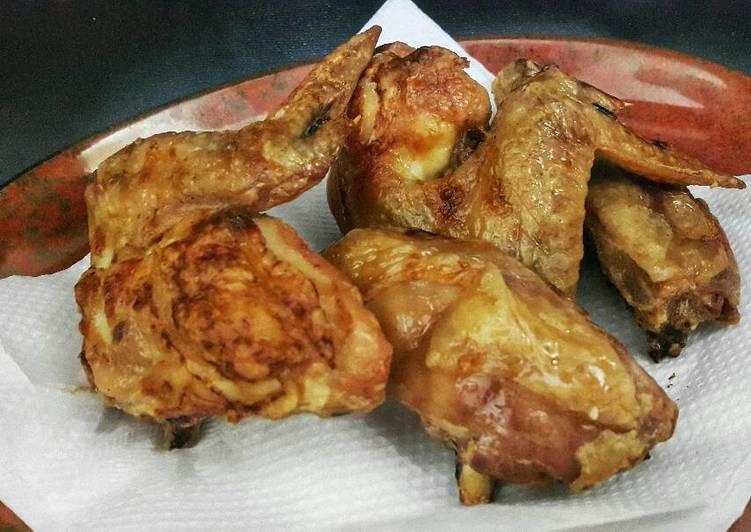 Resep Ayam Goreng Oven Renyah 100 Tanpa Minyak Rasa Mirip Deep Fry Oleh Molen Keju Cookpad