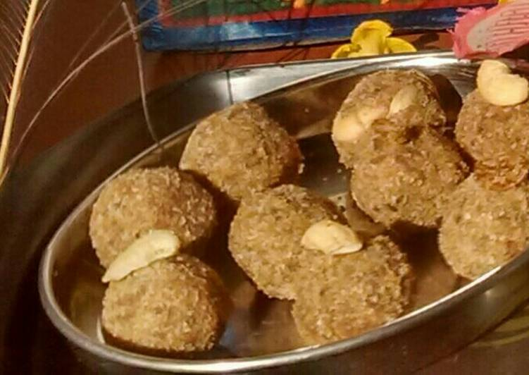 Red poha & oats ladoo - Laurie G Edwards