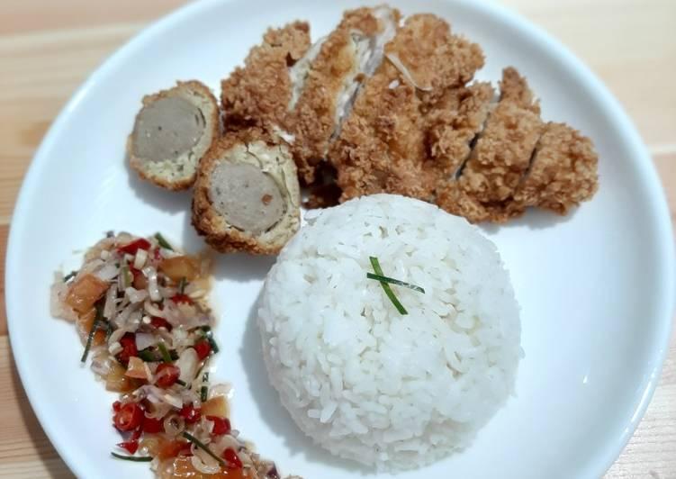 Chicken katsu sambal matah