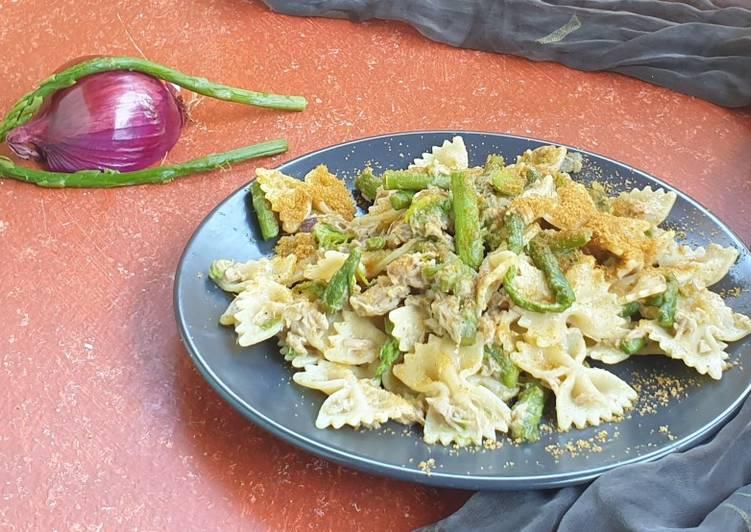 Recipe: Perfect Farfalle con asparagi, tonno e bottarga di muggine