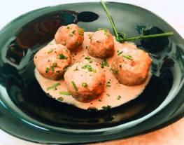Albóndigas de ternera en salsa de champiñón y queso (receta ligera) ?