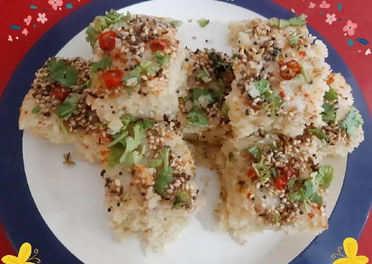 Recipe of Homemade Maize Sattu Sooji Healthy Dhokla