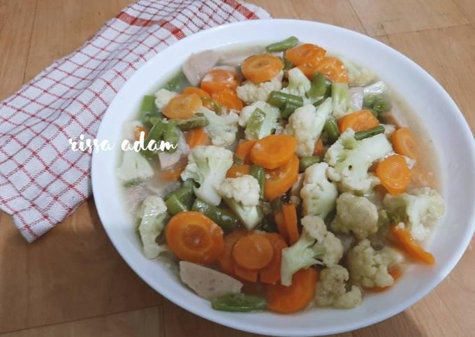 Capcay sederhana masakan rumahan