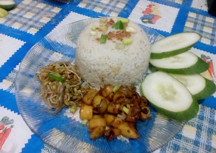 Resep Nasi uduk rice cooker yang Enak Banget