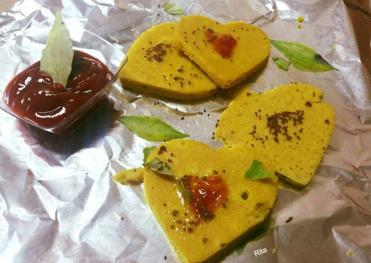 Step-by-Step Guide to Make Super Quick Homemade Heart Dhokla