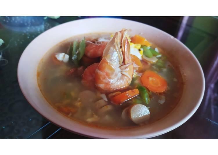 Sop Udang (mix sayur, tahu dan sosis)