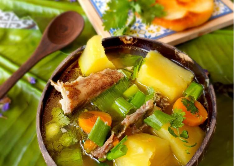 Easiest Way to Cook Yummy Caldo de Costilla – Kolumbianische Rinderrippenbrühe