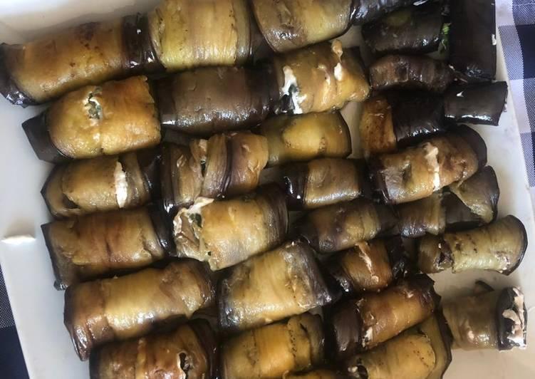 Auberginenröllchen mit Ziegenfrischkäsefüllung 🍆