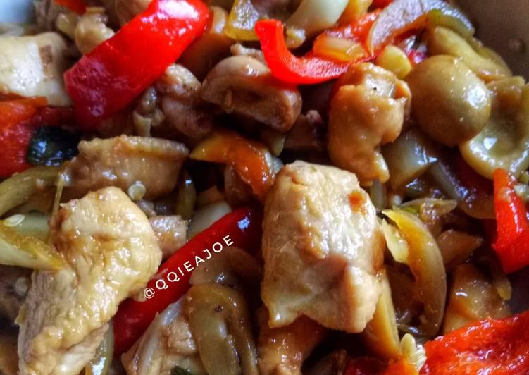 Tumis Ayam Jamur Paprika #BikinRamadanBerkesan