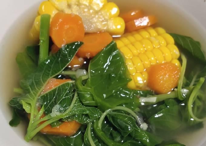 sayur bening kencur (bayam, wortel, jagung) - resepenakbgt.com