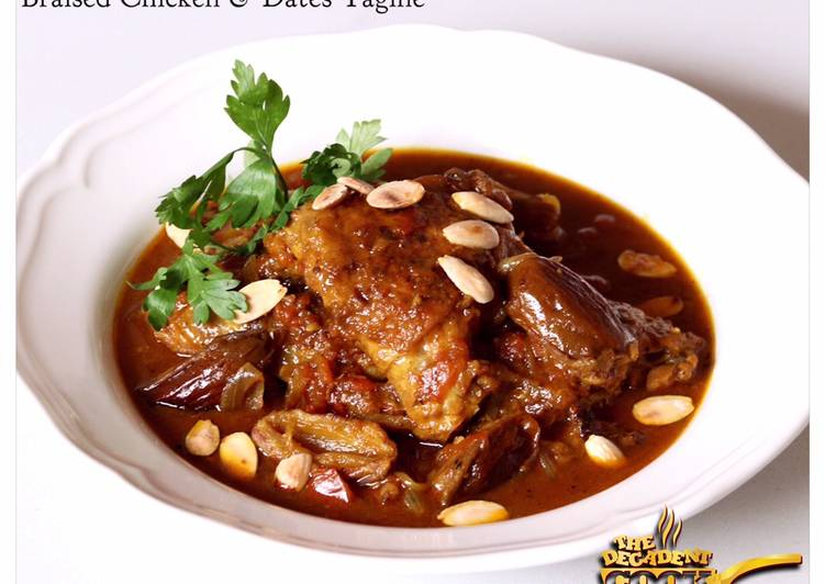 Simple Way to Prepare Speedy Braised chicken and dates tagine