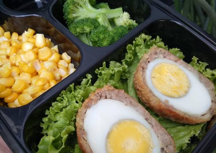 Scotch egg ! (non msg)- bisa untuk menu diet dan MPASI anak :)