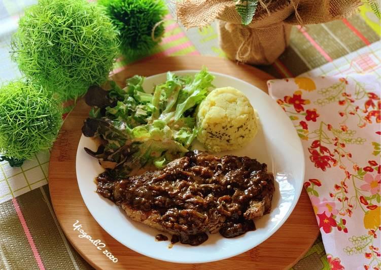 Sirloin Steak 🥩 with Black Pepper sauce