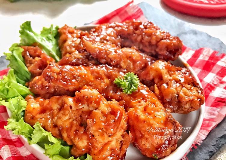 Chicken wings barbeque