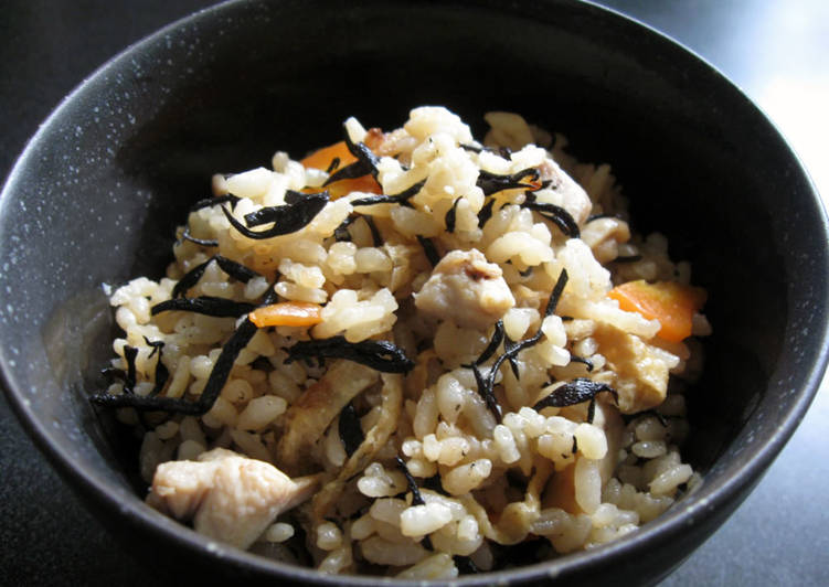 Easiest Way to Prepare Super Quick Homemade Hijiki Takikomi Gohan