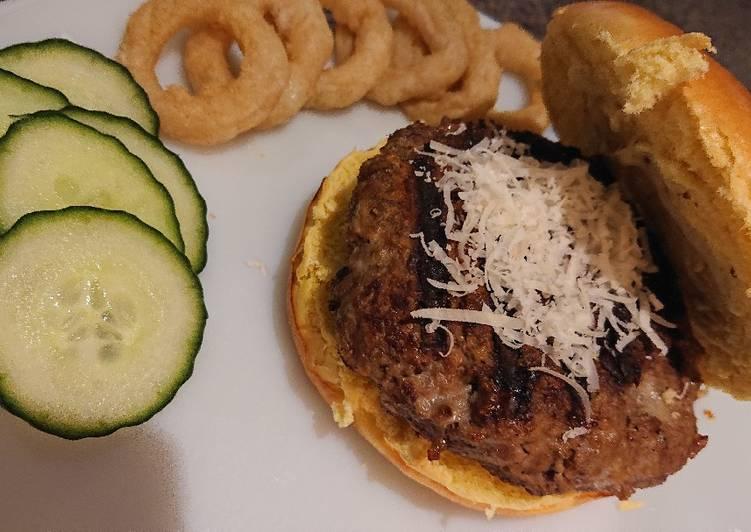 Wasabi and Mustard Beef Burger