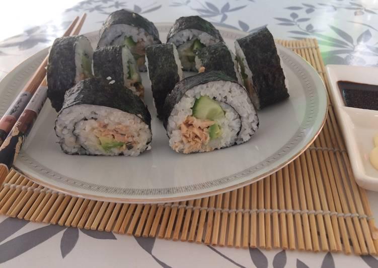 Salmon sushi enak & simple 🍣