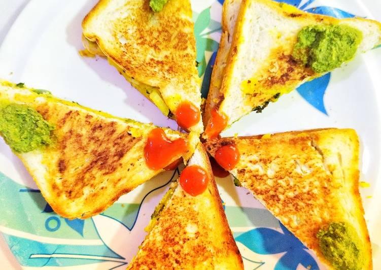 Cheese Masala Toast Sandwich