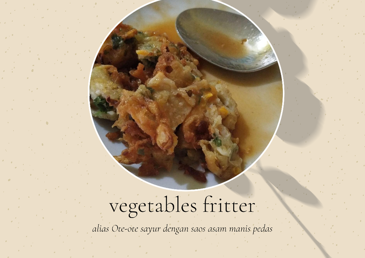 Ote-ote Sayur (Vegetables fritter)