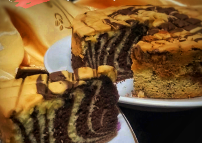 Zebra marble cake