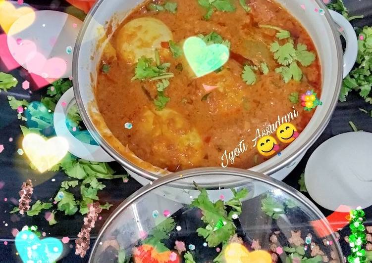 Steps to  Dhaba style egg curry simple and yummy recipe