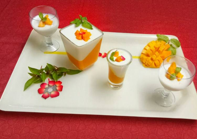 Recipe of Homemade Mango vanilla pannacotta