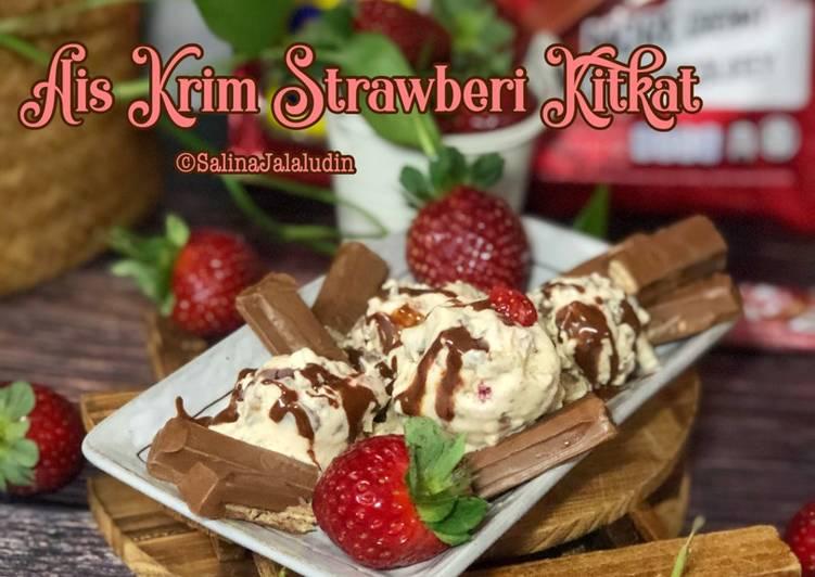 Ais Krim Strawberi KitKat